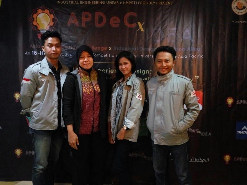 Tim Teknik Industri Unsoed Mengikuti Kompetisi Desain Asia Pasifik APDeCxIDEA 2019 di UNPAR Bandung